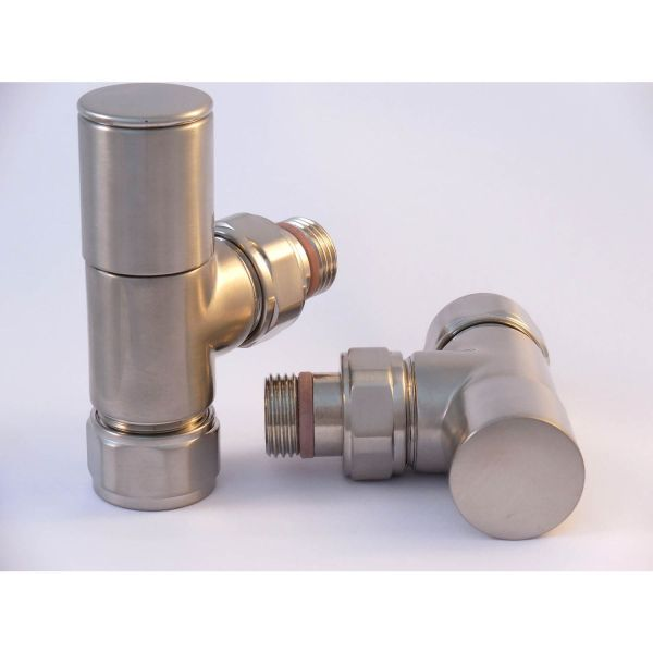 A1014 - Tuzio Regular Angle Valve (Pair) - Brushed Nickel