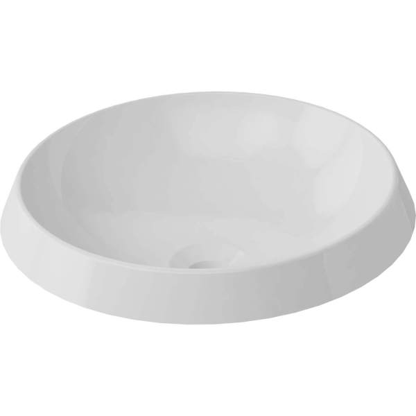 B9811 - Calma Rossini Round Vessel Sink - White