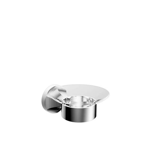 V2513 - Volkano Glass Soap Dish - Chrome