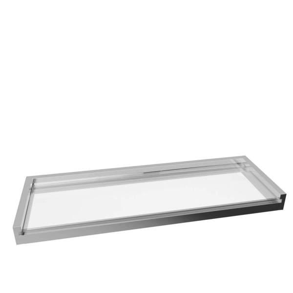 V5763 - Volkano Fire Glass Shelf - Chrome