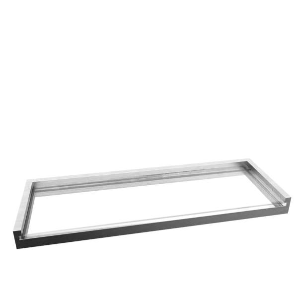 V5764 - Volkano Fire Glass Shelf - Brushed Nickel