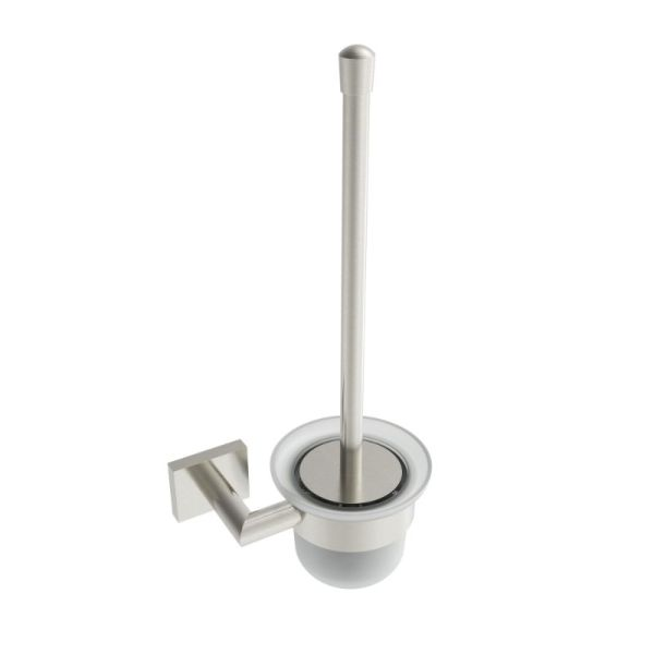 V62614 - Volkano Crater Wall Mounted Toilet Brush - Brushed Nickel