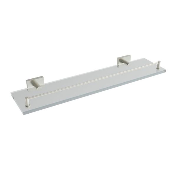 V62764 - Volkano Crater Glass Shelf - Brushed Nickel