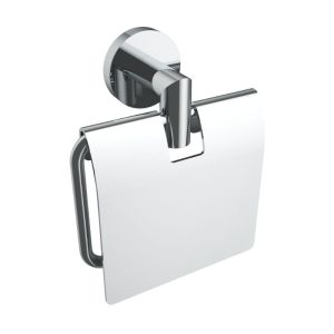 V63053 - Volkano Summit Toilet Paper Holder With Cover - Chrome