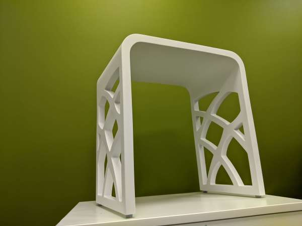 Shower stool with cutouts white