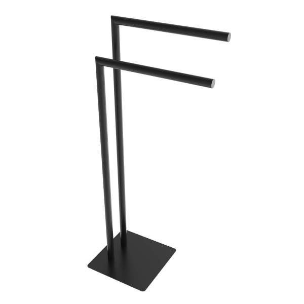 V91115 - round freestanding towel holder - matte black