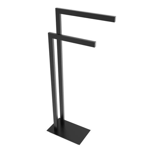V91155 - square freestanding towel holder - matte black