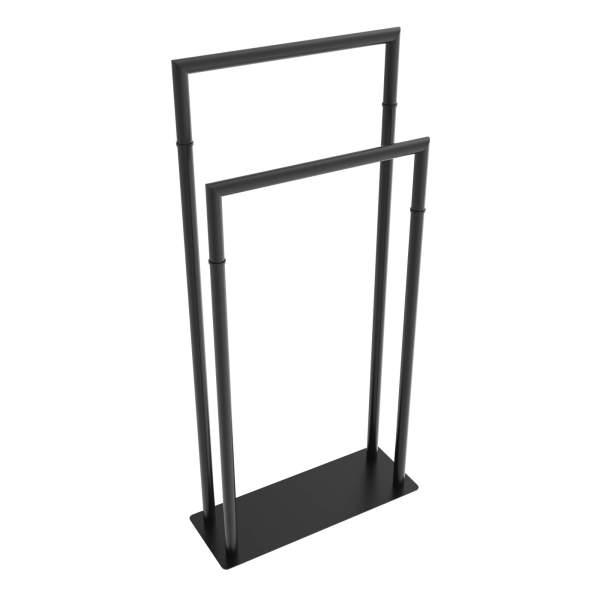 V91355 - round Freestanding towel wormer - matte black