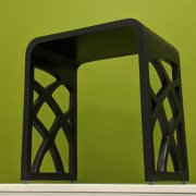 stool with cutouts