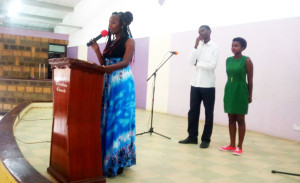 Teens giving life testimony