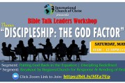 Bible Talk Leaders Workshop – Discipleship: The God Factor