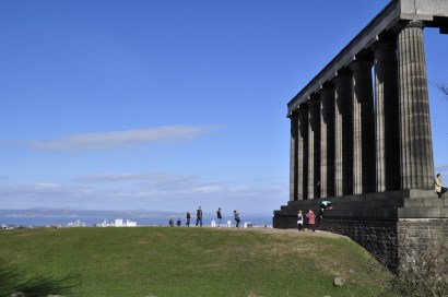 National Monument on Calton Hill above Edinburgh