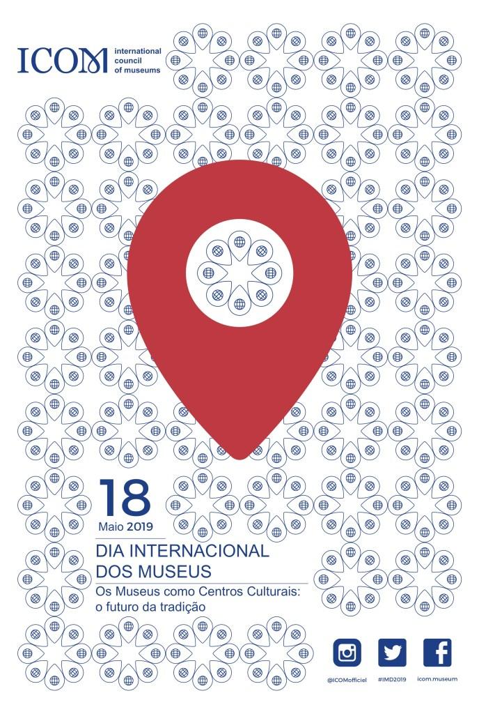 Cartaz do Dia Internacional dos Museus 2019 - Versão Português