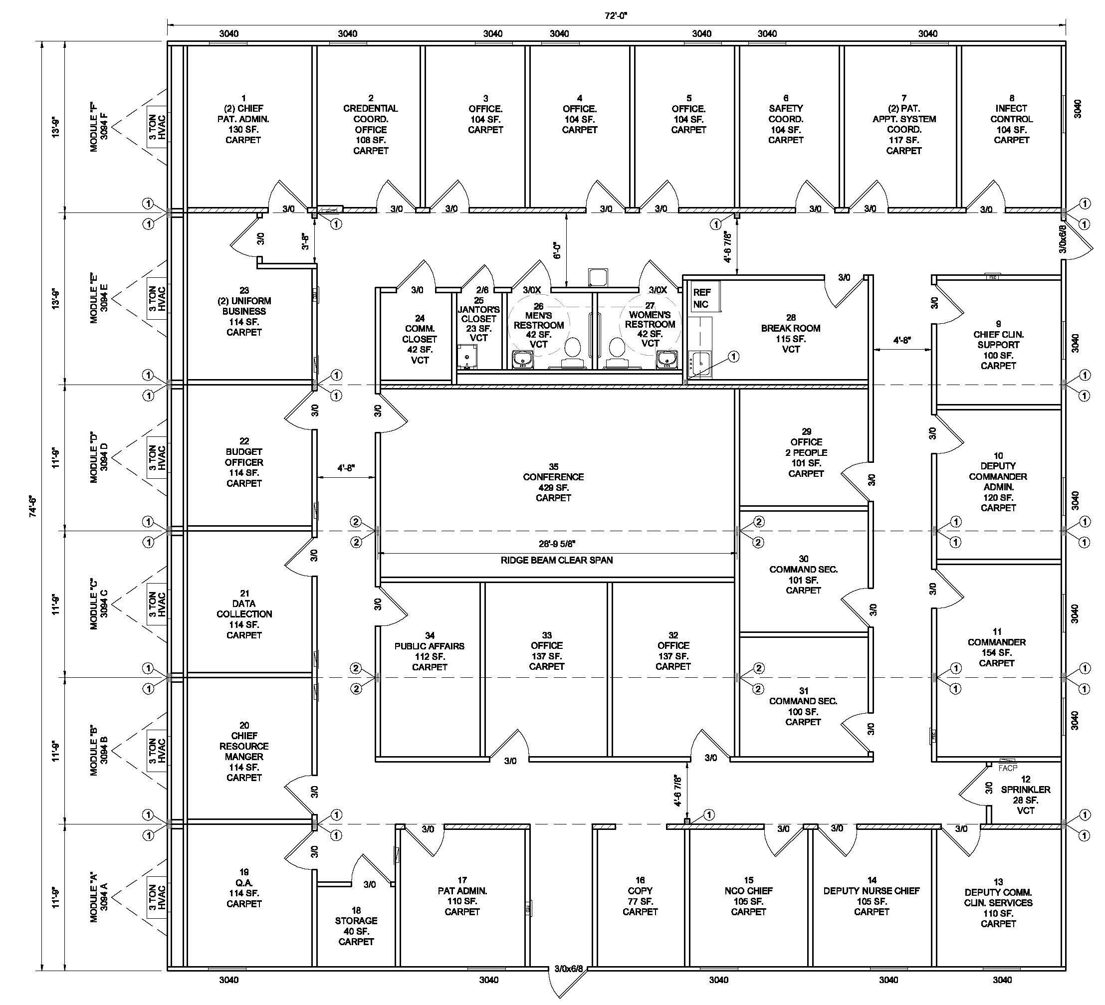 Modular Admin Building Ready For Purchase