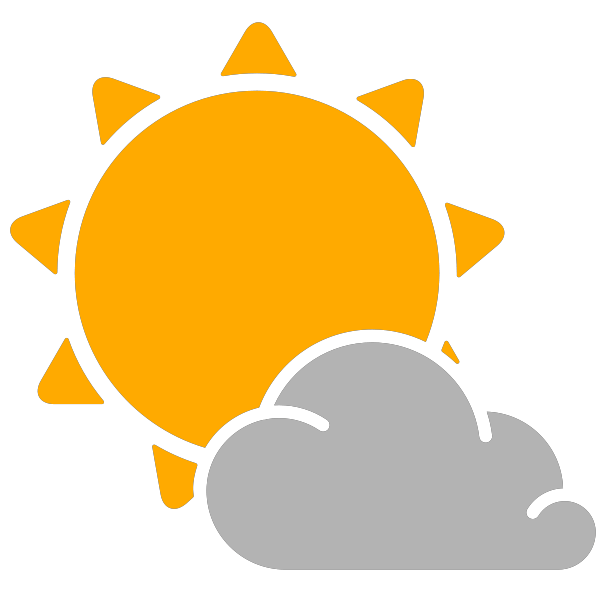 Image result for PARTLY CLOUDY