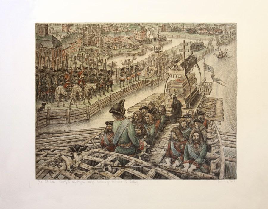 Петр I перевозит мощи Александра Невского в Лавру