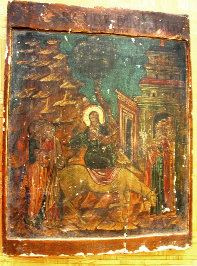 """Образ """"Вход Господен в Иерусалим"""" до реставрации"""