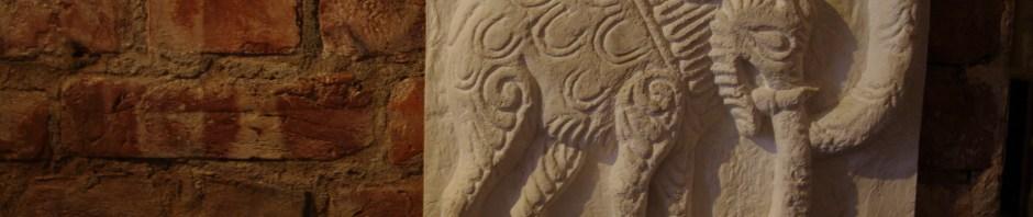Гипсовая отливка с оригинала слоника с Георгиевского собора города Юрьева-Польский