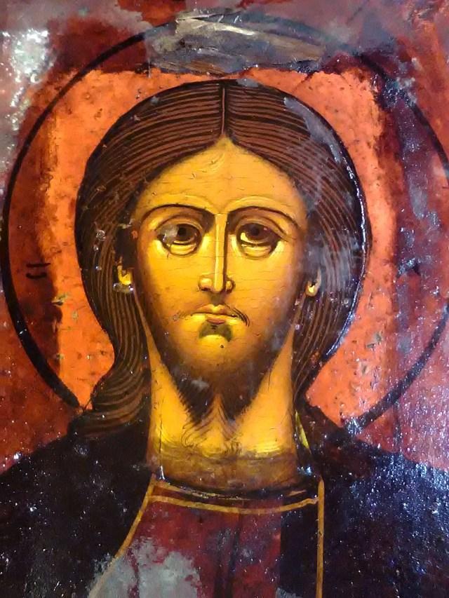 Образ Господа Иисуса Христа Вседержитель во время реставрации