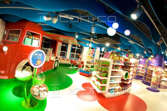 retail displays store re-fit contractors, display manufacturers, Playrooms, kids interiors, themed children's bedrooms, sweet shop, high-spec paint finishing