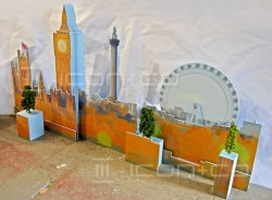 window displays, london eye, big ben, scale model, prop makers, motorised display