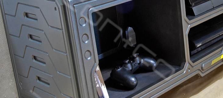 sci-fi Gaming furniture, games console tv stand, dr who, future retro, cnc, limited ltd edition, etsy shop, sic-fi furniture