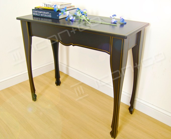 console decorative feature table living room hallway display tables black contemporary stylised modern furniture classic traditional formal