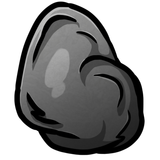 Minecraft Coal Icon PNG ClipArt Image