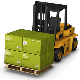 Forklift With Large Cargo Icon PNG ClipArt Image