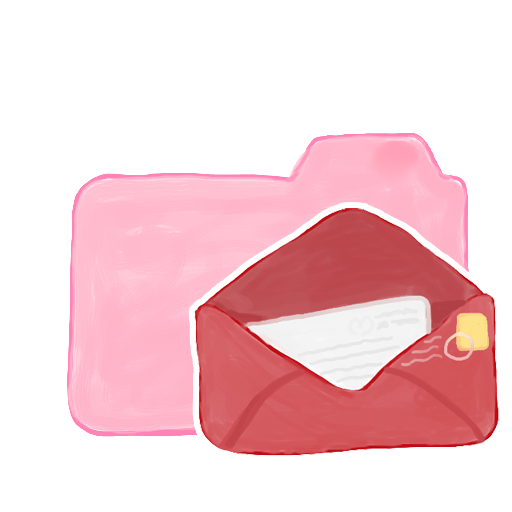 Pink Folder With Mail Icon, PNG ClipArt Image   IconBug.com