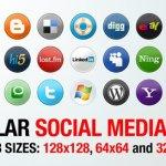 Icones social rondes