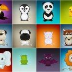 icônes animaux mignons
