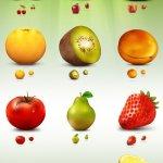 icônes fruits