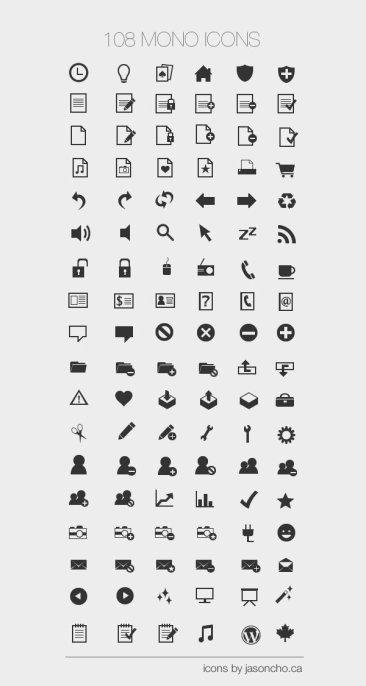 Mono icônes