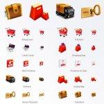 e-commerce set d'icônes