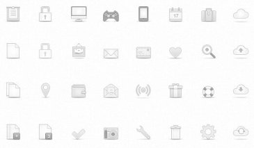 Icônes web soft