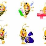 icones abeilles gratuites
