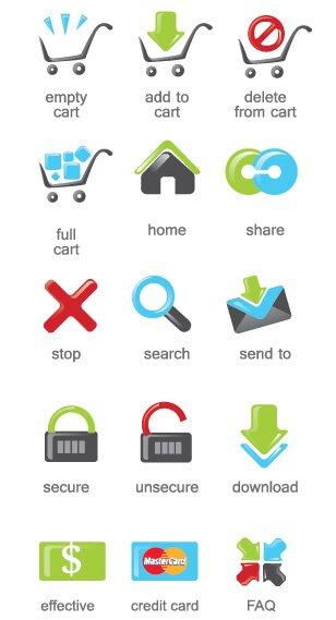 Vector e-commerce icônes