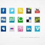 vector social icones
