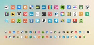41 icones partage