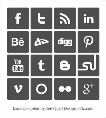 Icônes sociales simples