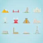 Famous Landmarks IconSet