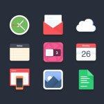 9-flat-icons-free