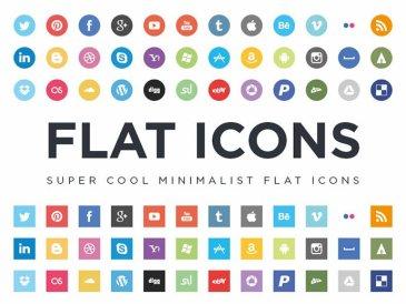 Minimalist flat icones