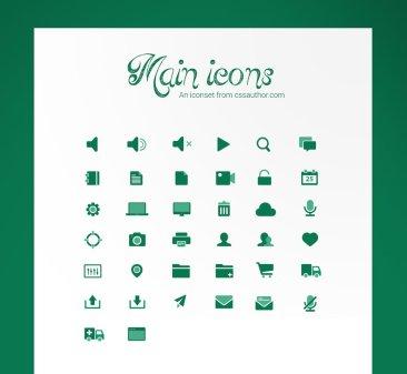 Main icones