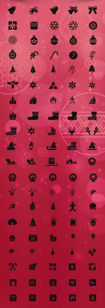 100 icônes de noël