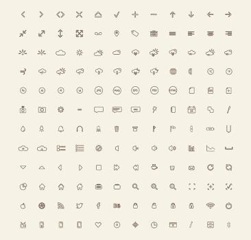 144 vector icones