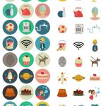 60 flat icones