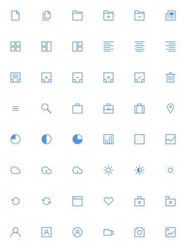 Thin icônes