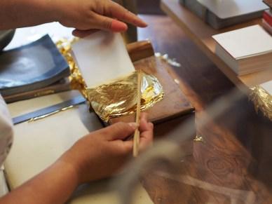 L'or posé dans les carnets